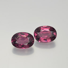 thumb image of 1.1ct Oval Facet Raspberry Red Rhodolite Garnet (ID: 369626)