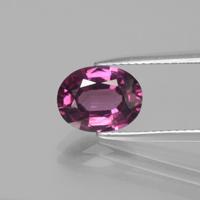 2.64 ct Oval Facet Raspberry Red Rhodolite Garnet Gemstone 9.50 mm x 7.4 mm (Product ID: 381841)