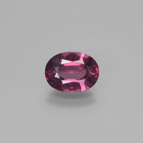 thumb image of 1.6ct Oval Facet Raspberry Red Rhodolite Garnet (ID: 382899)