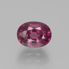 1.9ct Oval Facet Raspberry Red Rhodolite Garnet Gem (ID: 383662)