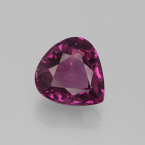 2.72 ct Pear Facet Raspberry Red Rhodolite Garnet Gemstone 8.87 mm x 8.4 mm (Product ID: 384393)