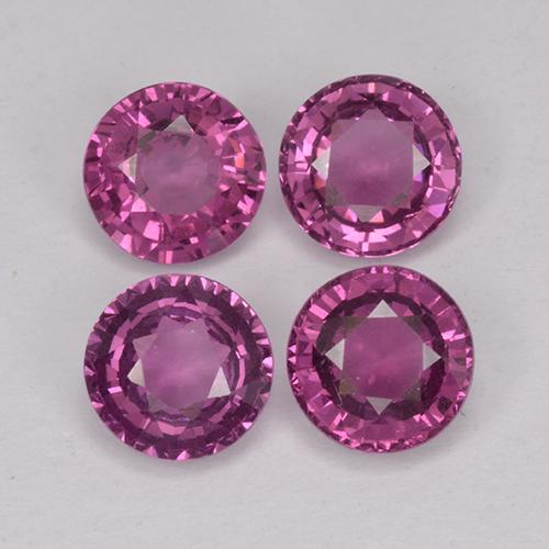 thumb image of 3.3ct Round Facet Raspberry Red Rhodolite Garnet (ID: 390640)