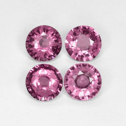 Medium-Dark Purple 红榴石 Gem - 0.6ct 圆形切面 (ID: 390643)