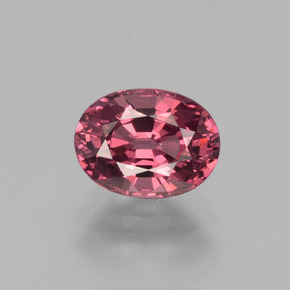 1.73 ct Oval Facet Raspberry Red Rhodolite Garnet Gemstone 7.88 mm x 5.9 mm (Product ID: 397999)