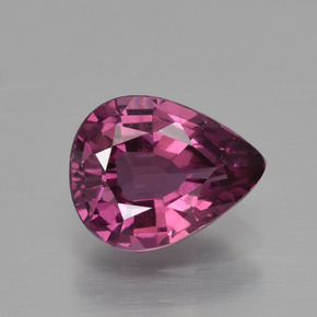 thumb image of 1.6ct Pear Facet Raspberry Red Rhodolite Garnet (ID: 399457)