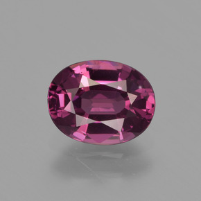thumb image of 1.3ct Oval Facet Raspberry Red Rhodolite Garnet (ID: 412874)