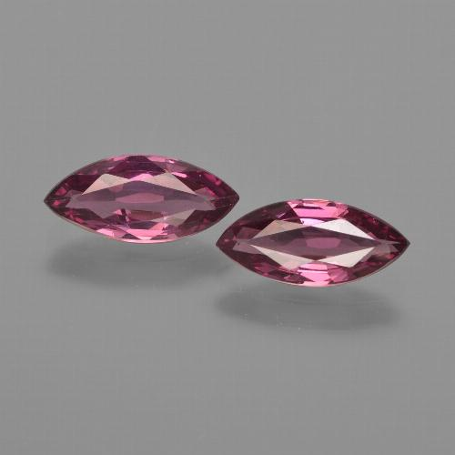 Pinkish Purple Rhodolite Garnet Gem - 1ct Marquise Facet (ID: 412941)
