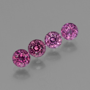 Deep Purplish Pink Rhodolite Garnet Gem - 0.4ct Round Facet (ID: 415119)