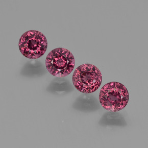 0.4ct Round Facet Raspberry Red Rhodolite Garnet Gem (ID: 415128)