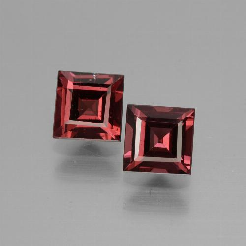 Deep Wine Red Granate Rodolita Gema - 0.8ct Forma cuadrada (ID: 431057)