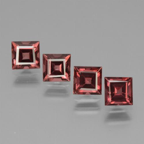 Pinkish Rose Rhodolite Garnet Gem - 0.8ct Square Facet (ID: 431097)