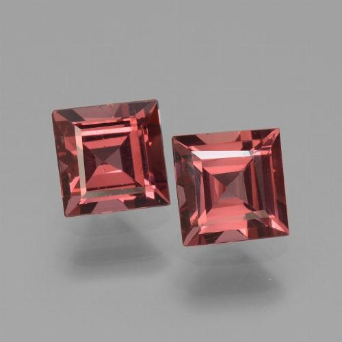 Deep Red Rhodolite Garnet Gem - 0.8ct Square Facet (ID: 431111)