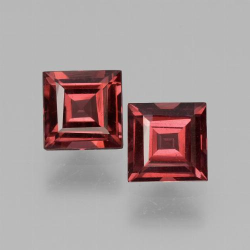 Pinkish Rose Rhodolite Garnet Gem - 0.8ct Square Facet (ID: 431164)