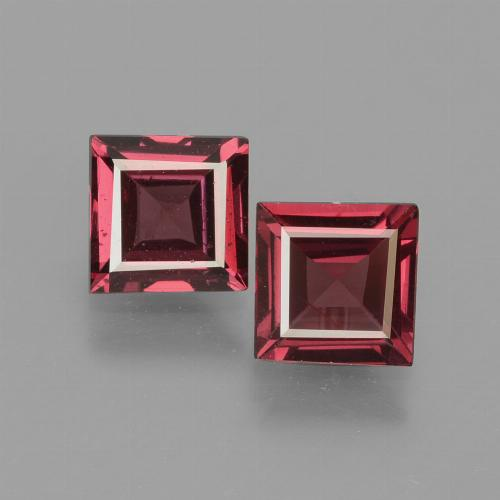Pinkish Rose Rhodolite Garnet Gem - 0.7ct Square Facet (ID: 431197)