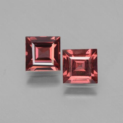 Pinkish Rose Rhodolite Garnet Gem - 0.7ct Square Facet (ID: 431292)