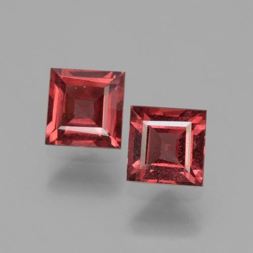 Pinkish Rose Rhodolite Garnet Gem - 0.7ct Square Facet (ID: 431302)