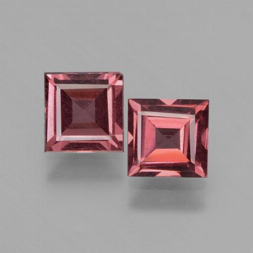 Pinkish Rose Rhodolite Garnet Gem - 0.7ct Square Facet (ID: 431322)