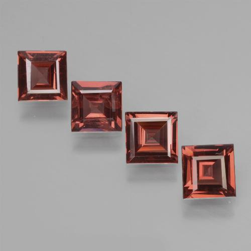 Pinkish Rose Rhodolite Garnet Gem - 0.6ct Square Facet (ID: 431359)
