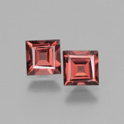 Pinkish Rose Rhodolite Garnet Gem - 0.8ct Square Facet (ID: 431397)