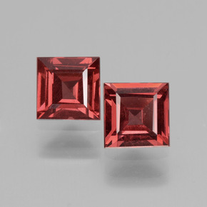 Pinkish Rose Rhodolite Garnet Gem - 0.8ct Square Facet (ID: 431454)