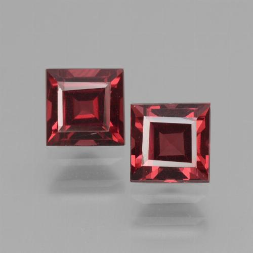 Pinkish Rose Rhodolite Garnet Gem - 0.9ct Square Facet (ID: 431462)