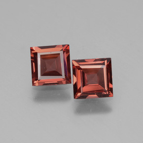 0.7ct Square Facet Pinkish Rose Rhodolite Garnet Gem (ID: 431520)
