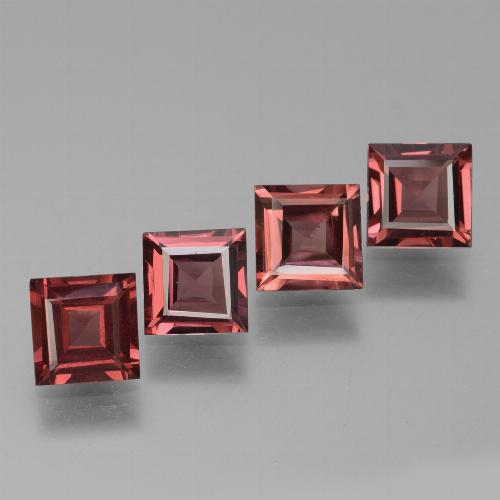 Pinkish Rose Rhodolite Garnet Gem - 0.7ct Square Facet (ID: 431548)