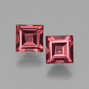 Medium Red Rhodolite Garnet Gem - 0.8ct Square Facet (ID: 431593)