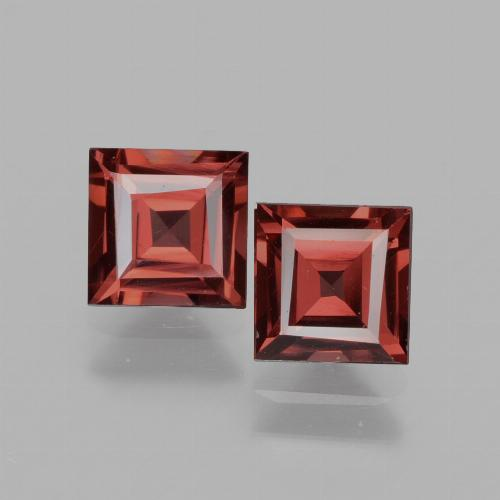 Pinkish Rose Rhodolite Garnet Gem - 0.8ct Square Facet (ID: 431645)