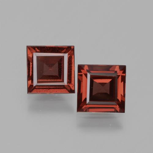 Pinkish Rose Rhodolite Garnet Gem - 0.8ct Square Facet (ID: 431652)
