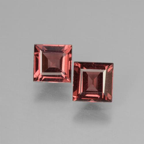 Pinkish Rose Rhodolite Garnet Gem - 0.8ct Square Facet (ID: 431708)