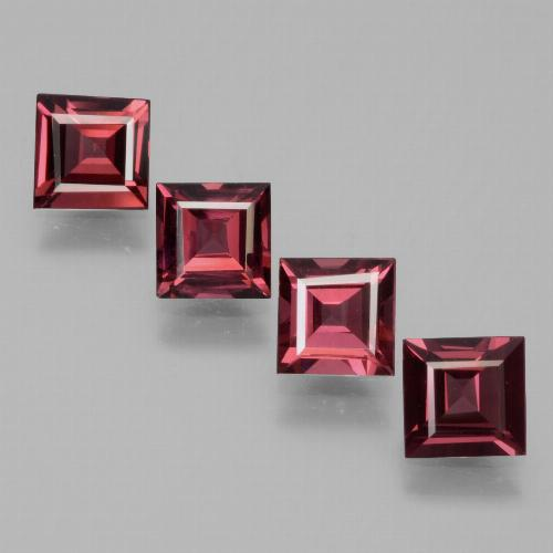 Pinkish Rose Rhodolite Garnet Gem - 0.7ct Square Facet (ID: 431715)