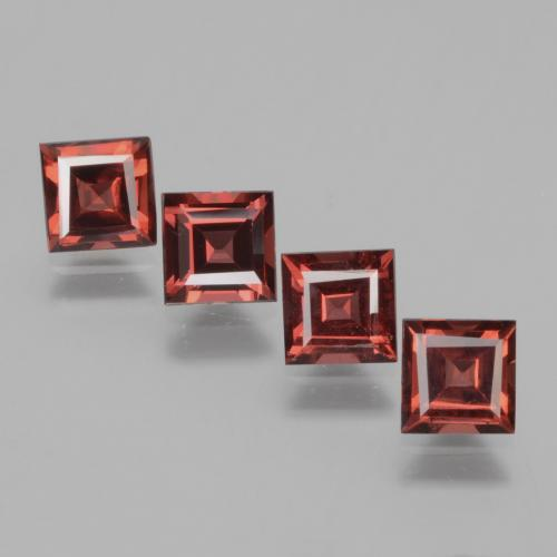 Pinkish Rose Rhodolite Garnet Gem - 0.7ct Square Facet (ID: 431720)