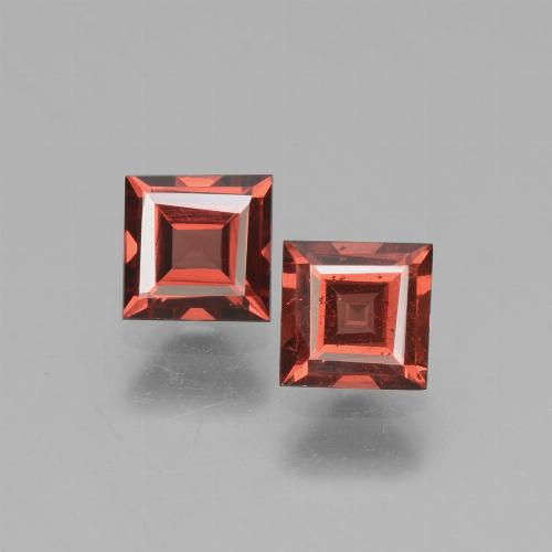 Pinkish Rose Rhodolite Garnet Gem - 0.7ct Square Facet (ID: 431745)
