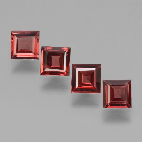 Pinkish Rose Rhodolite Garnet Gem - 0.6ct Square Facet (ID: 431789)