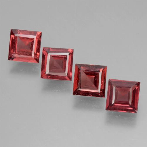 Pinkish Rose Rhodolite Garnet Gem - 0.7ct Square Facet (ID: 431795)
