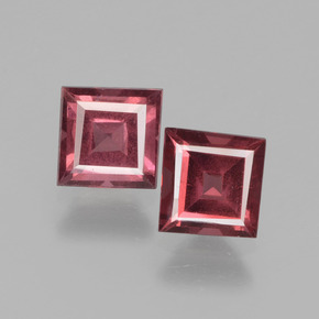 Pinkish Rose Rhodolite Garnet Gem - 0.7ct Square Facet (ID: 431811)