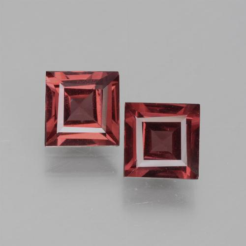 Deep Wine Red Rhodolite Garnet Gem - 0.7ct Square Facet (ID: 431813)
