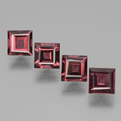 Pinkish Rose Rhodolite Garnet Gem - 0.7ct Square Facet (ID: 431829)