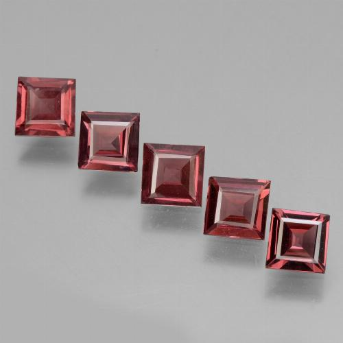 Deep Red Rhodolite Garnet Gem - 0.6ct Square Facet (ID: 431831)