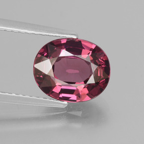 3.06 ct Oval Facet Raspberry Red Rhodolite Garnet Gemstone 9.56 mm x 7.9 mm (Product ID: 432120)