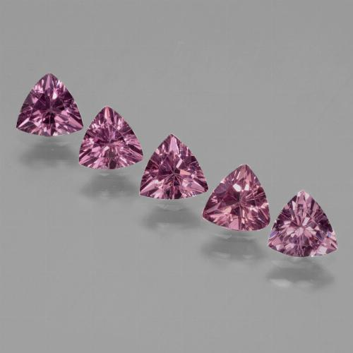 Pinkish Rose Rhodolite Garnet Gem - 0.5ct Trillion Facet (ID: 432352)