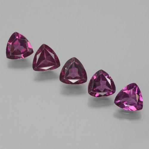 Pinkish Rose Rhodolite Garnet Gem - 0.5ct Trillion Facet (ID: 432354)