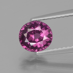 1.30 ct Oval Facet Pinkish Rose Rhodolite Garnet Gemstone 6.67 mm x 6.1 mm (Product ID: 438333)