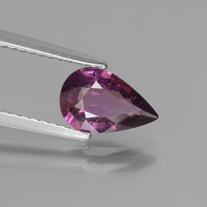 thumb image of 1.2ct Pear Facet Purplish Pink Rhodolite Garnet (ID: 438891)