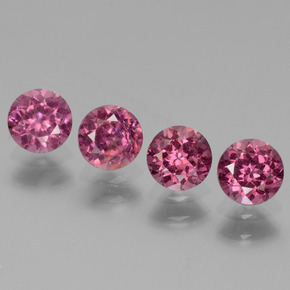 Pinkish Rose Rhodolite Garnet Gem - 0.5ct Round Facet (ID: 440971)