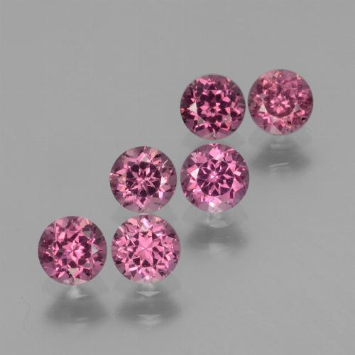 Pinkish Rose Rhodolite Garnet Gem - 0.4ct Round Facet (ID: 441012)