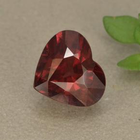 1.7ct Heart Facet Raspberry Red Rhodolite Garnet Gem (ID: 497366)