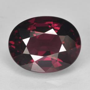 5.4ct Oval Facet Raspberry Red Rhodolite Garnet Gem (ID: 499580)