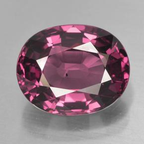 thumb image of 4.8ct Oval Facet Raspberry Red Rhodolite Garnet (ID: 499583)